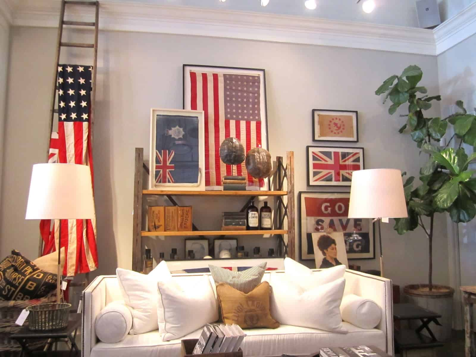 Decorating with Vintage Flags - Classic Casual Home