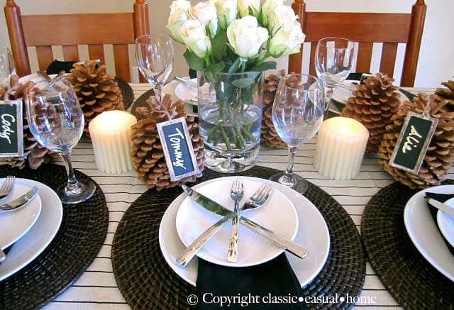 Rustic Table Setting And Roasted Lemon Cauliflower