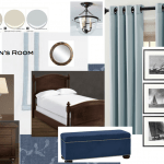 Masculine Nautical Bedroom and Prints