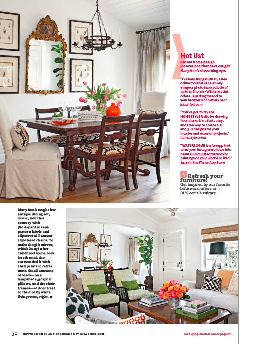 Our Living and Dining Room in Better Homes and Gardens