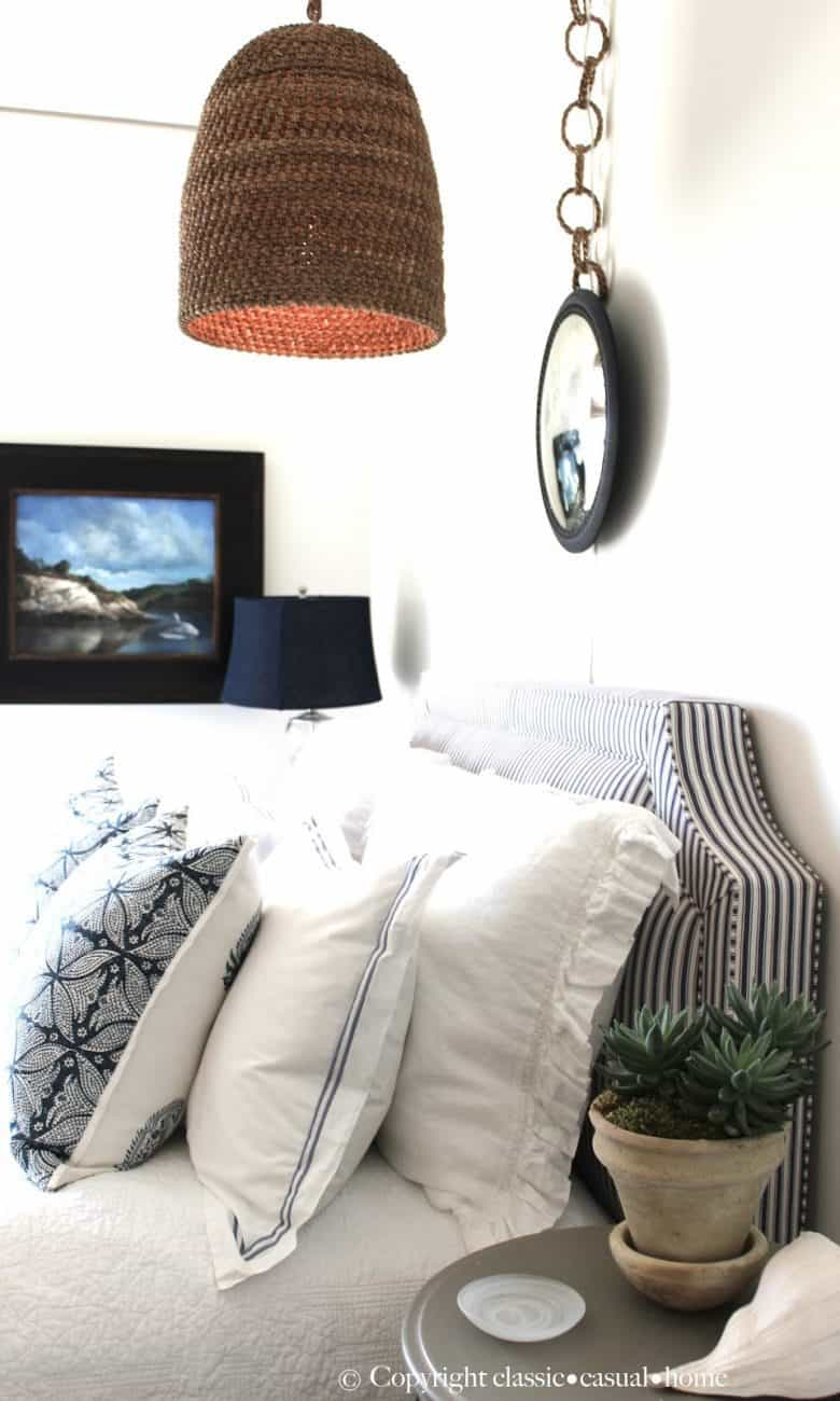 How To Make the Most of a Small Blue & White Bedroom