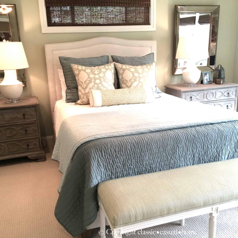 Soft Green/Blue Master Bedroom Sources