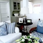 Blue and White Casual Beach Cottage