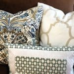 Brown Couch Blues: Mini-Makeover Before and After