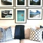 Blue & White Personalized Living Room Makeover–Before/After