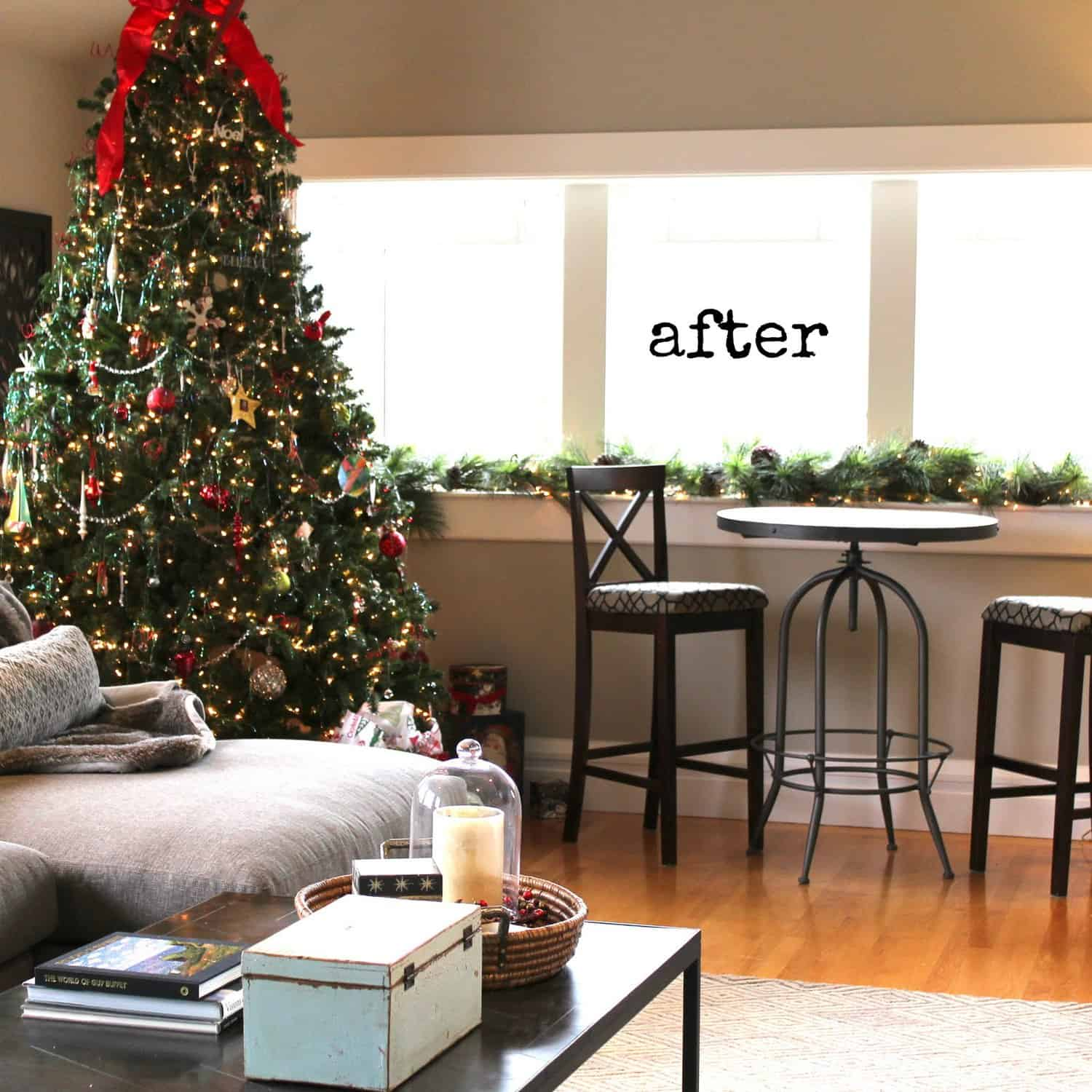 california craftsman neutral makeover before and after - Craftsman Christmas Classic