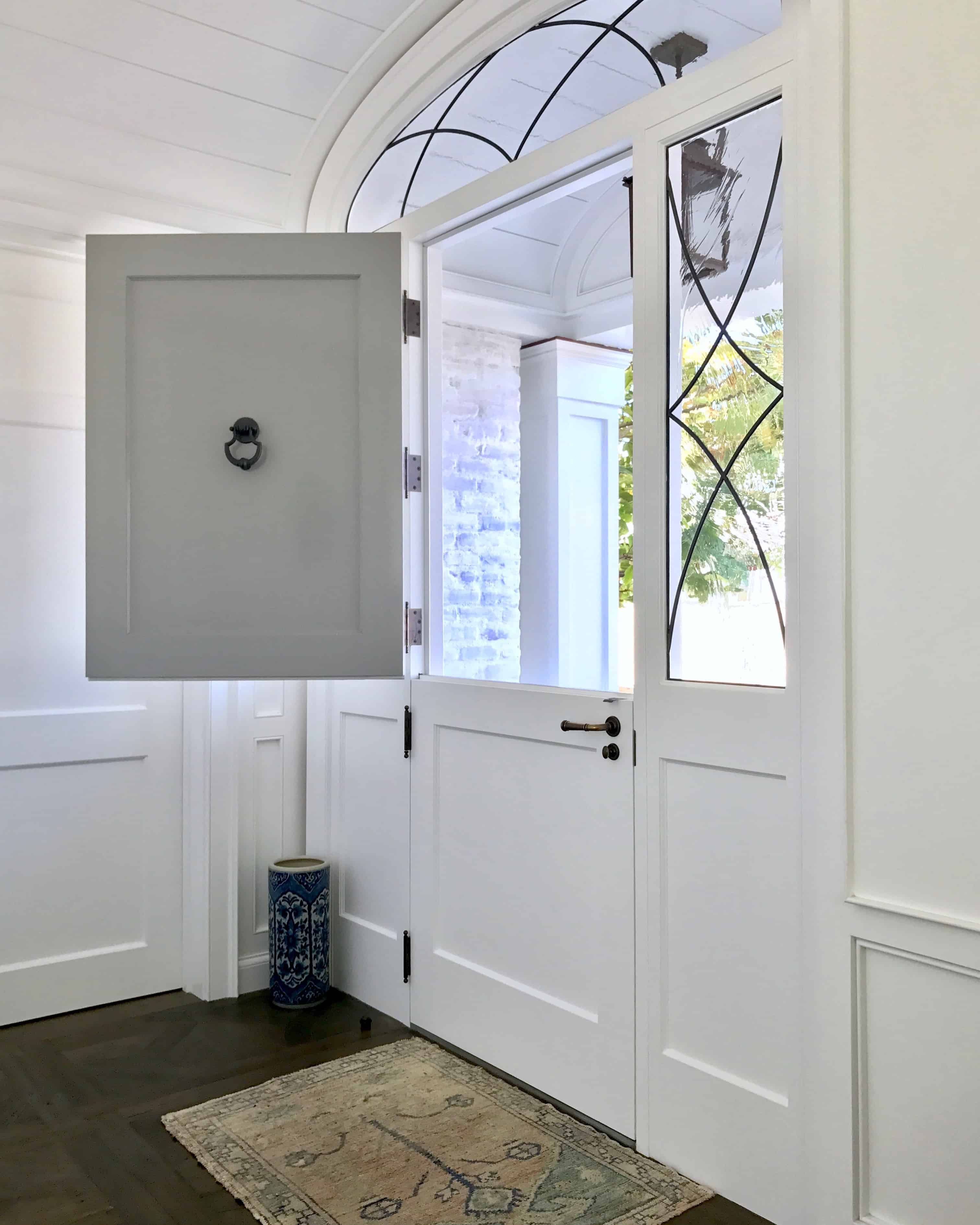 Great Grey And White Dutch Door And Foyer