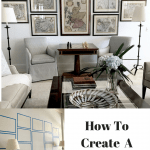 Creating a Fresh, Classic Neutral Living Room in A Two Story Space