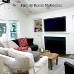 MODERN FARMHOUSE FAMILY ROOM Before and After