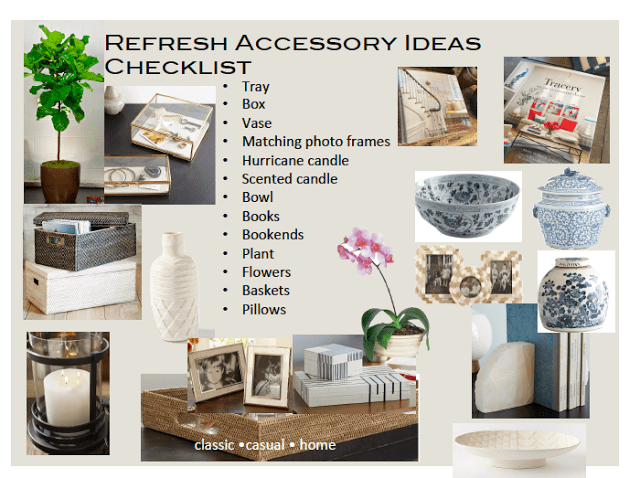 Refresh Your Home:  Accessory Checklist!