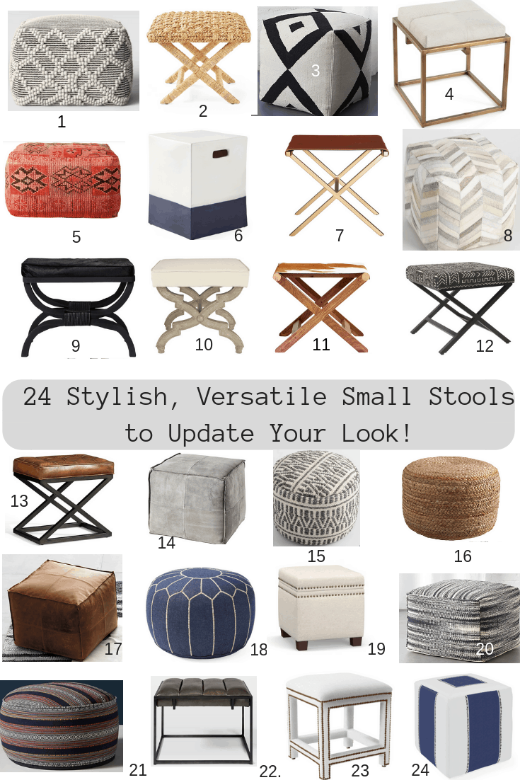 24 Small Stools To Update Your Look - Classic Casual Home