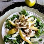 Tasty Autumn Salad with Pear, Arugula and Roasted Pumpkin Seeds