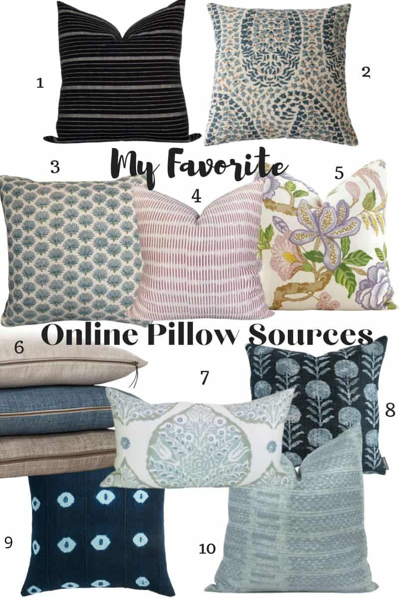 Mary Ann Pickett's Favorite Pillow Sources