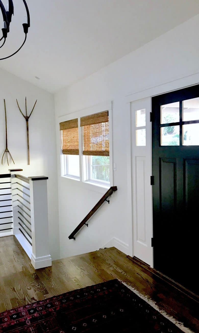 A Strikingly Updated Front Door and Foyer Makeover