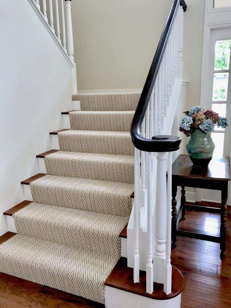 Tuftex carpet runner on stairs