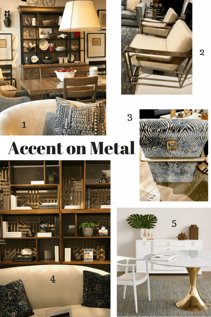 High Point Market Spring 2018 Trends Metal Accents