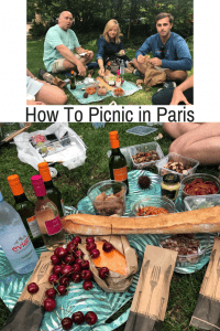 gourmet picnic in a Paris Park