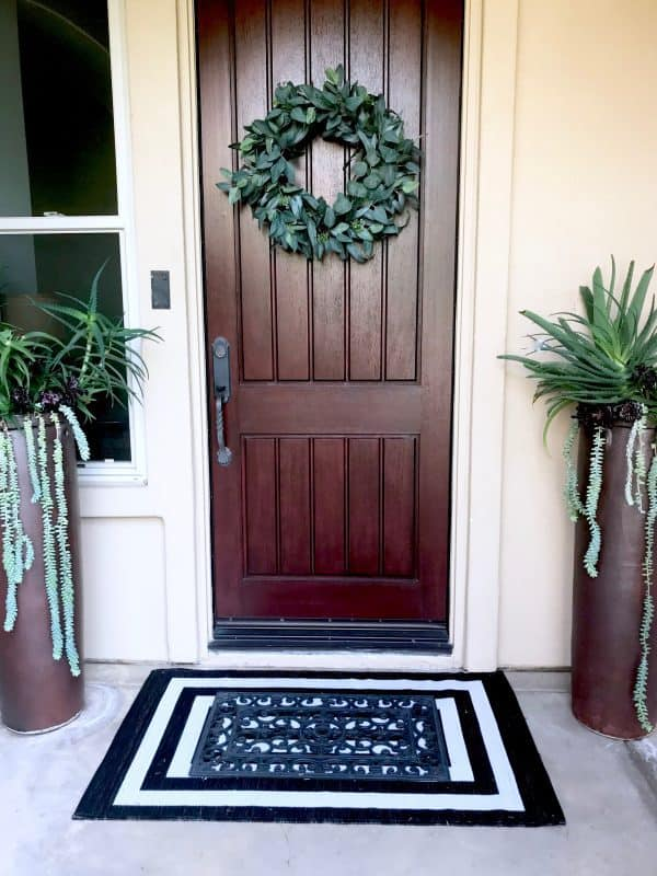 Target Eucalyptus Wreath and Outdoor mat