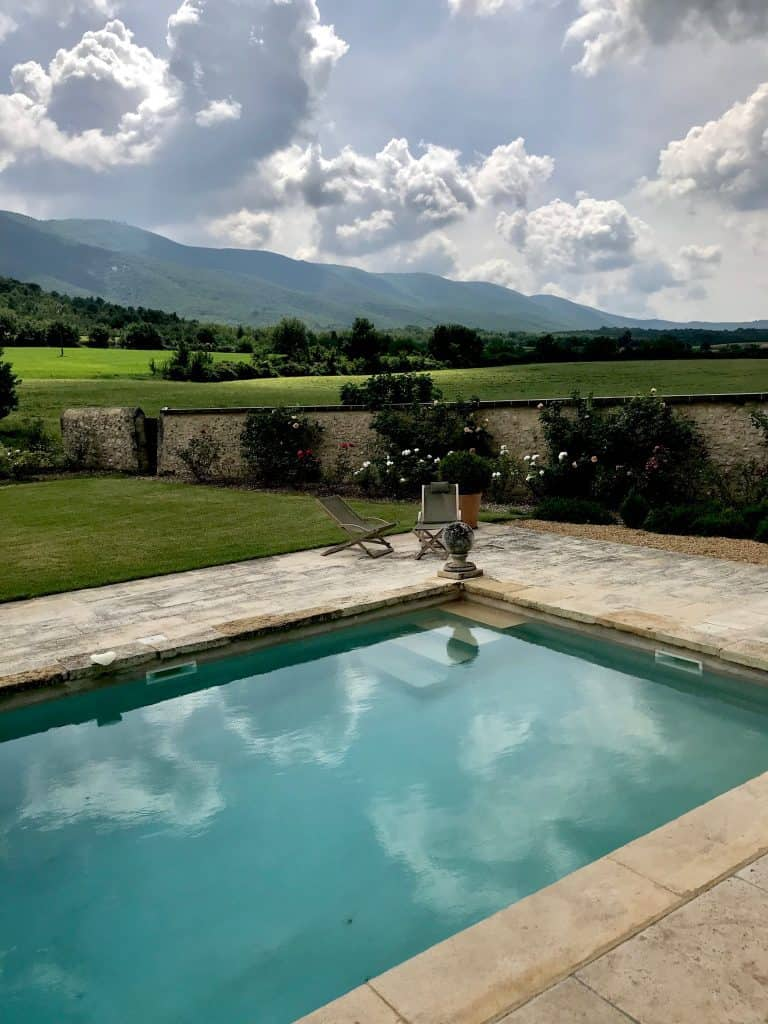pool in provence at french manor
