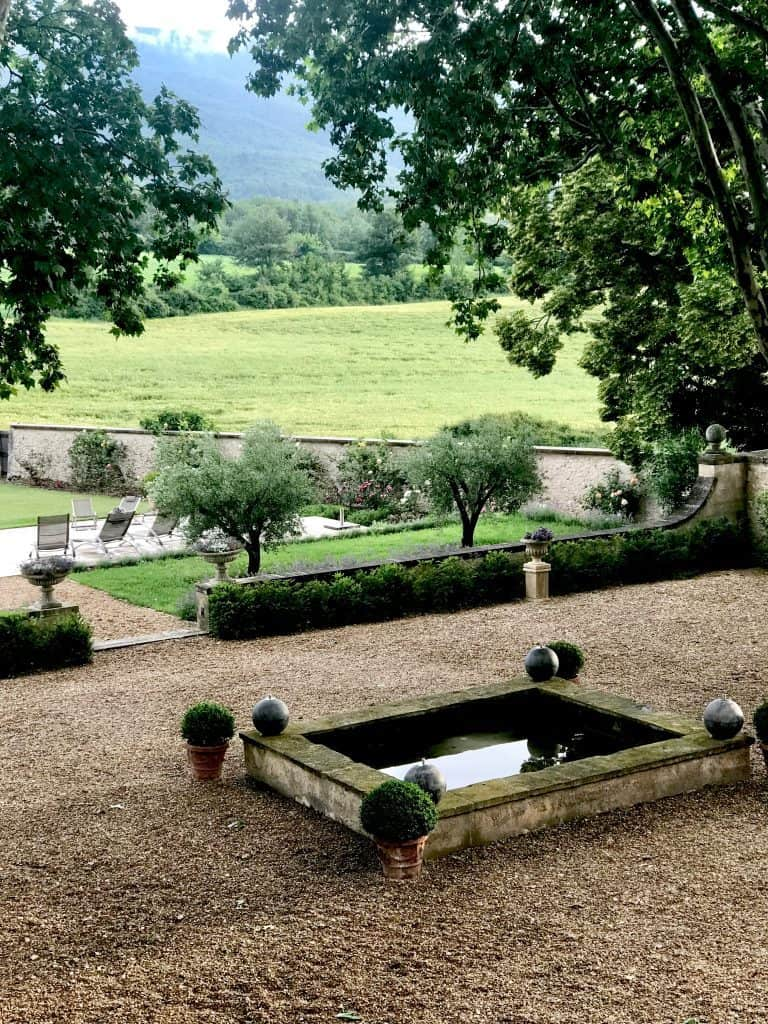 fountain in garden at Manor House in Provence