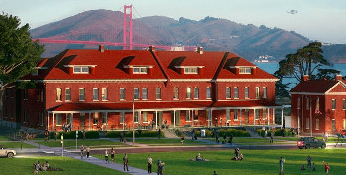 New Lodge at The Presidio National Park by the Golden Gate Bridge