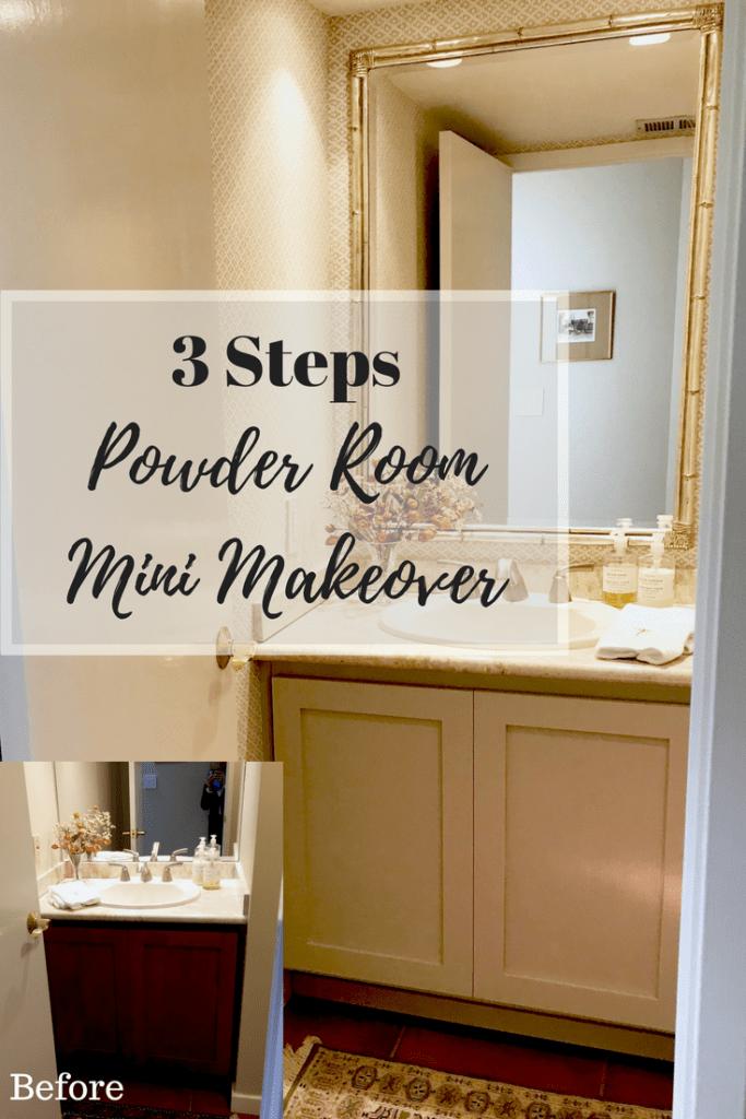 Neutral Powder Room Refresh