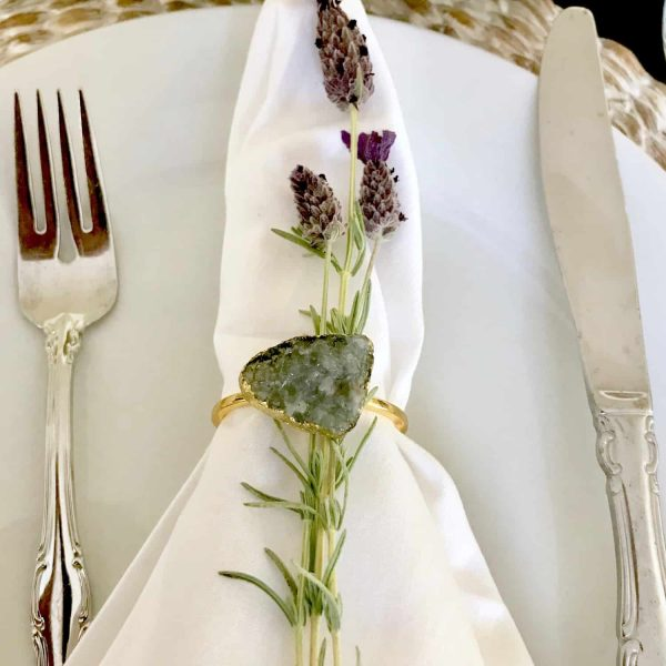 Place setting with lavender