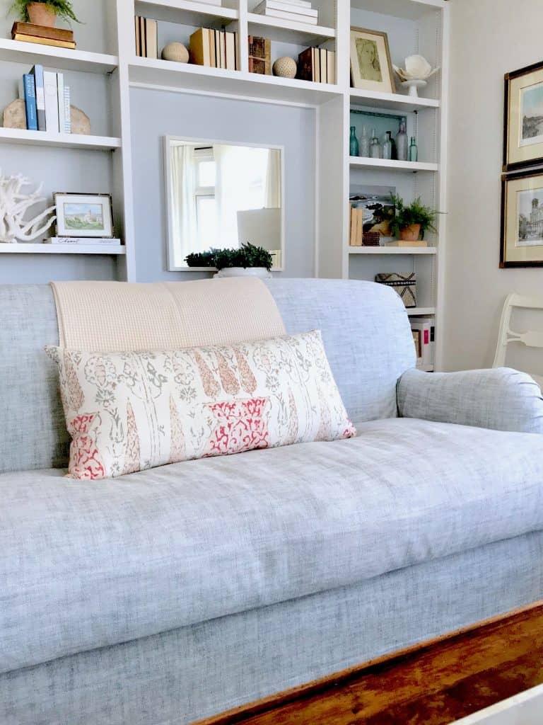 shelf styling, lighten your living room