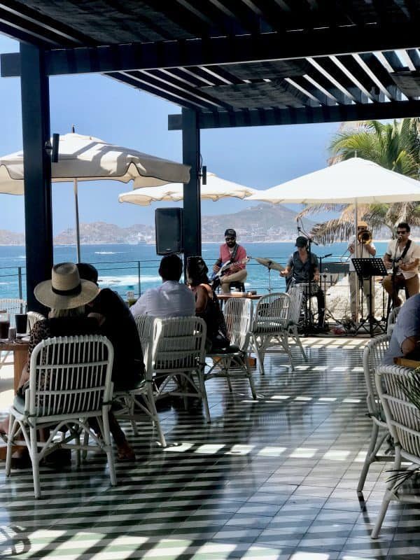 The Ledge Brunch with a live band Cabo San Lucas