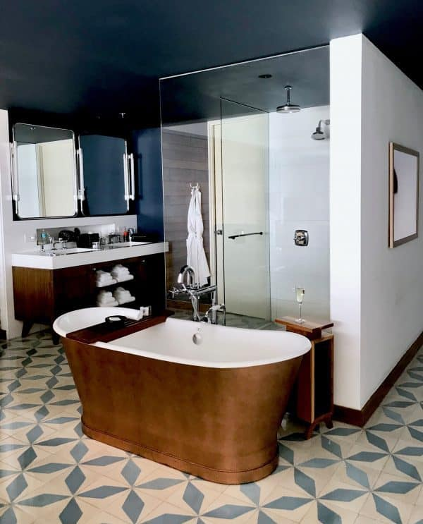 Copper tub at the Cape hotel Cabo San Lucas