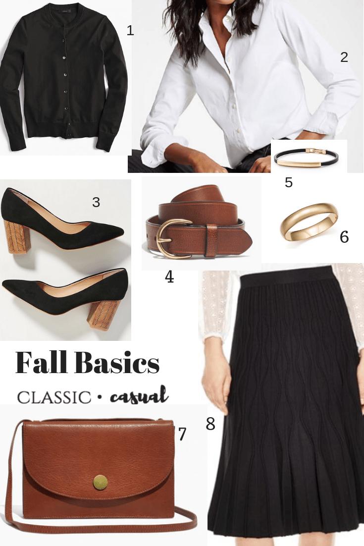 Mix and Match Fall Fashion Basics to Update Your Wardrobe