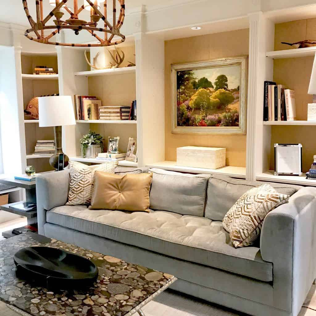 How to Style Family Room Shelves