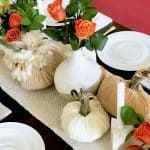 Exquisite Velvet Pumpkin Fall Tablescapes Two Ways
