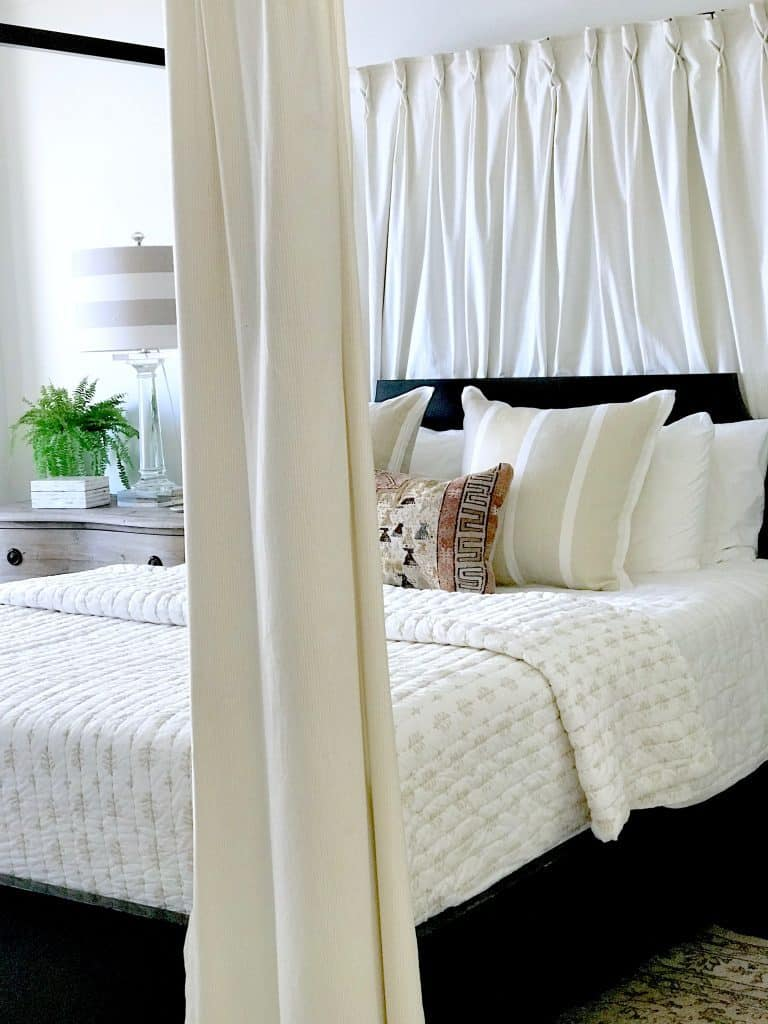 Beautiful bedroom by Mary Ann of Classic Casual Home.