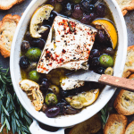 Baked Feta with Olives, Black Bean Cassoulet From Leftovers and Family