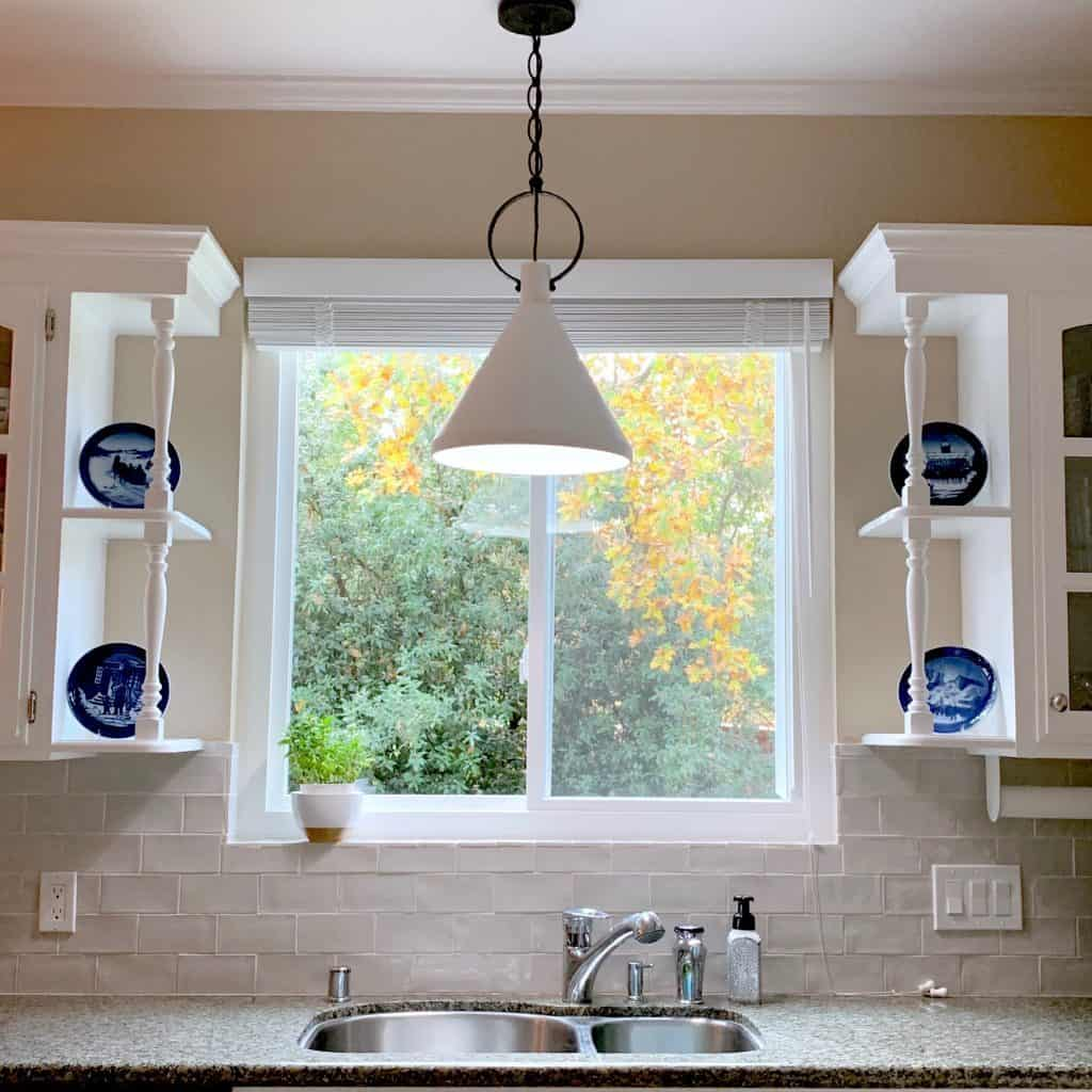 Limoges Pendant Light over the Kitchen Sink for a Simple Update