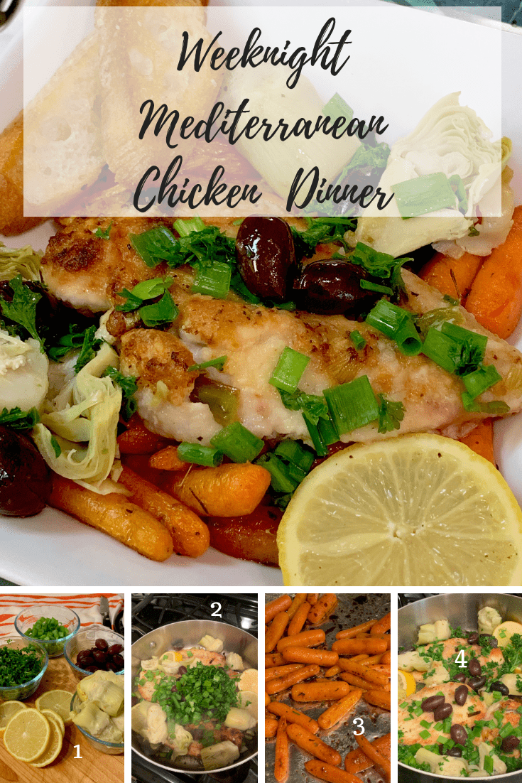 steps to make Mediterranean Chicken with roasted carrots