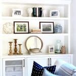 Step By Step BOOKSHELF Styling Tips Before and After