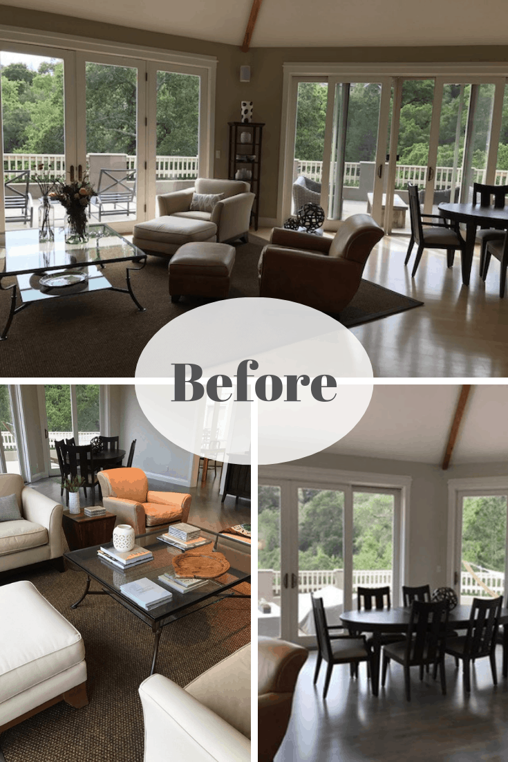 Living Dining Room Makeovers with Gorgeous Views Before ...