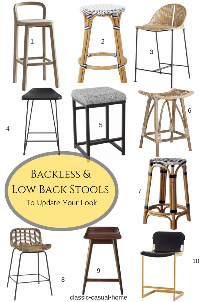 New backless and low back kitchen stools