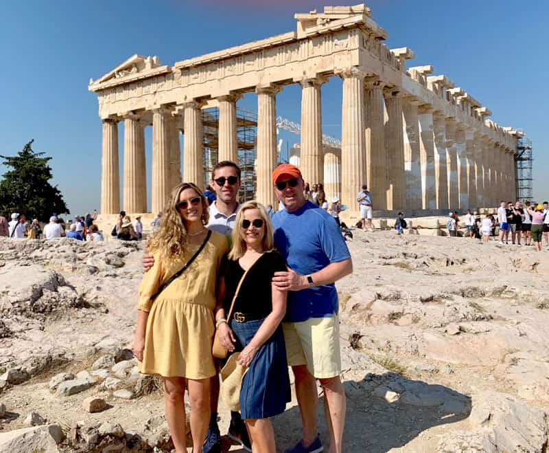 Pickett Family in Athens, Greece