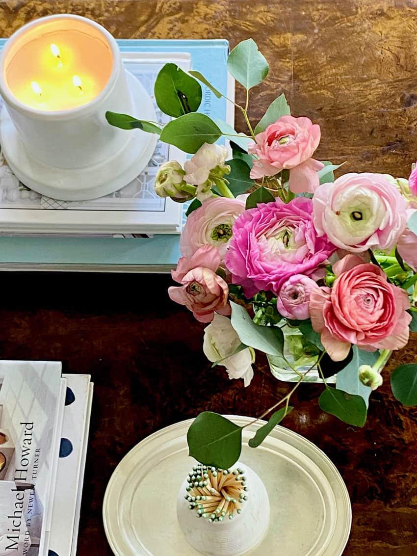 Mary Ann Pickett's coffee table stying