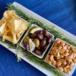 Simple Appetizer Trio With Roasted Rosemary Cashews