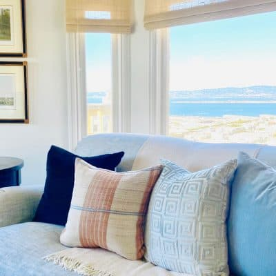 San Francisco Apartment of Mary Ann Pickett with designer pillows