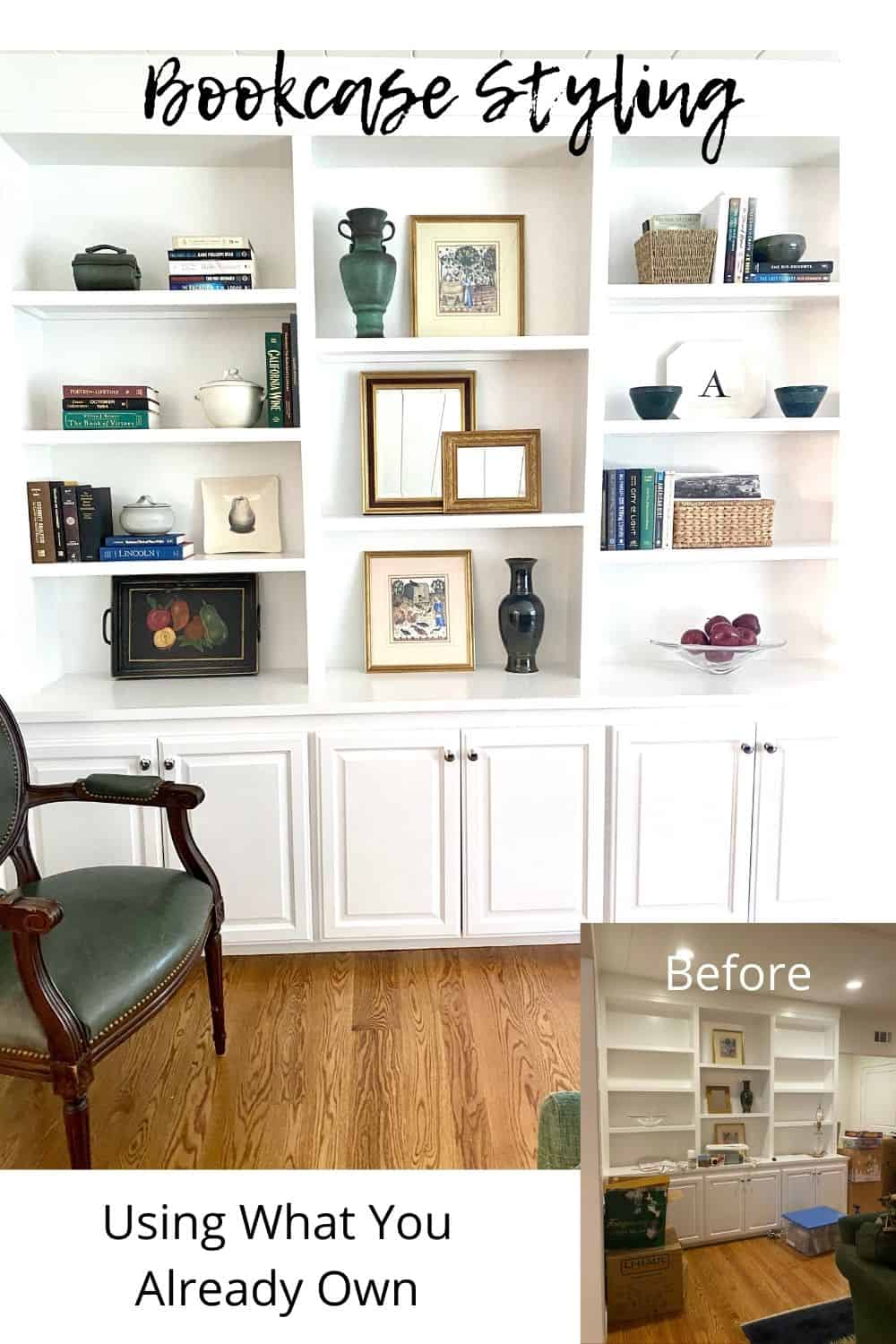 Mary Ann Pickett's Book case styling tips