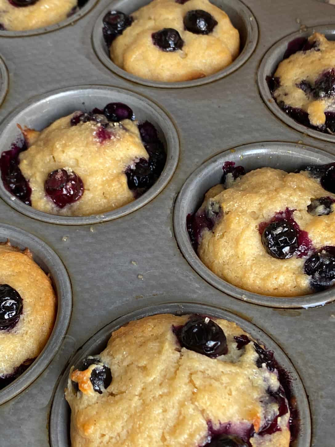 Muffins Loaded With Blueberries