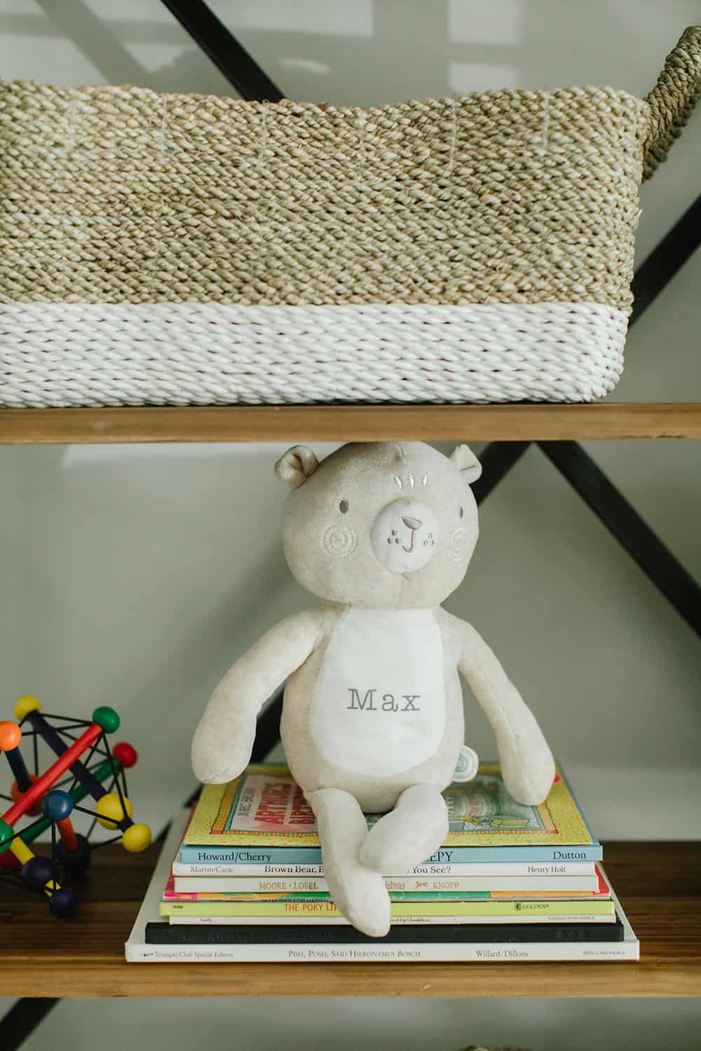 Nursery shelves with Personalized Toy Bear