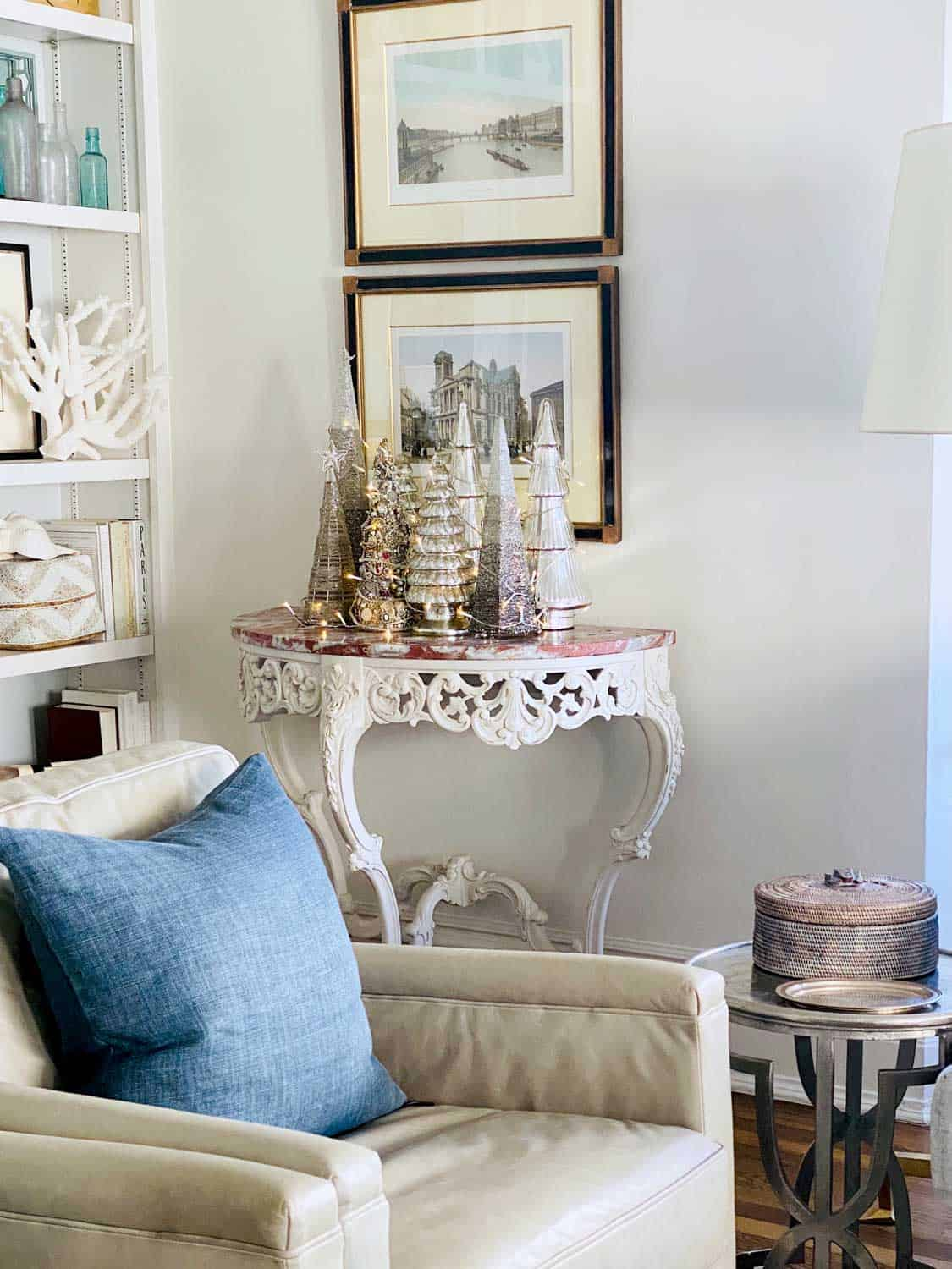 Mary Ann Pickett's Collection of Silver Christmas Trees