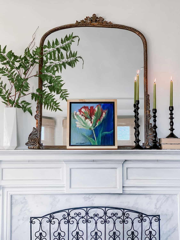 Mantel Styling By designer Mary Ann Pickett