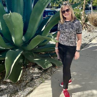 Mary Ann Pickett in Van's Sneakers